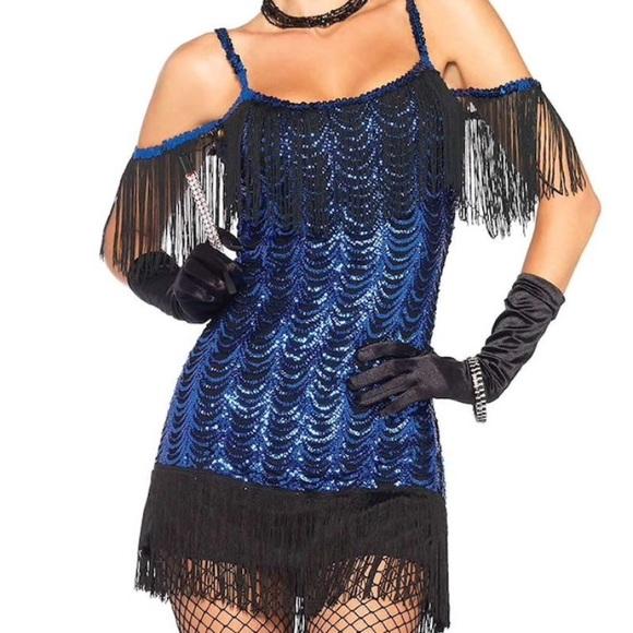 Leg Avenue Dresses Sequin Flapper Dress With Gloves Poshmark